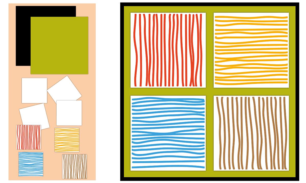 Ligne horizontale et verticale - Faire un patchwork