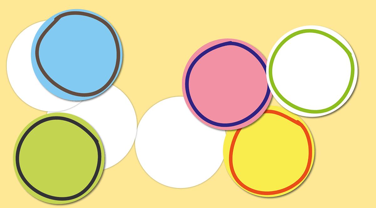 Graphisme Rond Petite Section Maternelle - feutres et papiers ronds
