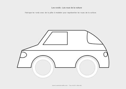 Graphisme Rond Petite Section Maternelle - les roues de véhicules