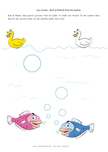 Séquence sur les ronds PS - Les poissons et les bulles