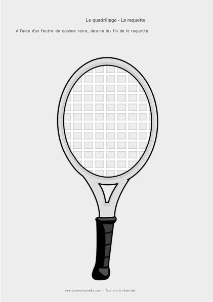 Graphisme PS Quadrillage - Compléter les raquettes 2