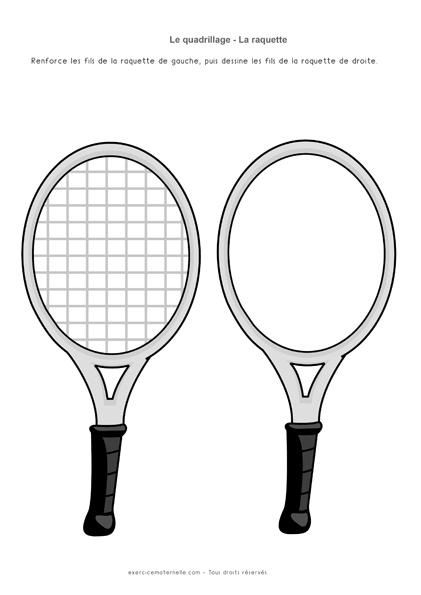 Graphisme PS Quadrillage - Compléter les raquettes 1