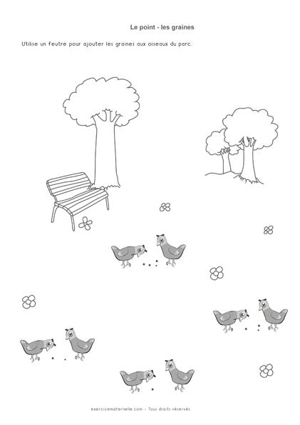 Graphisme le point Séance 3 - graines pour oiseaux