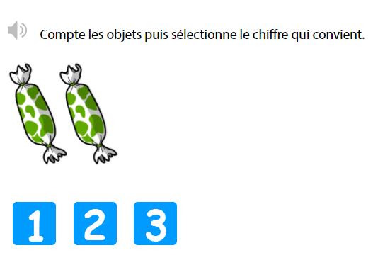 Compter de 1 à 3 - Connaître la suite des nombres jusqu'à 3