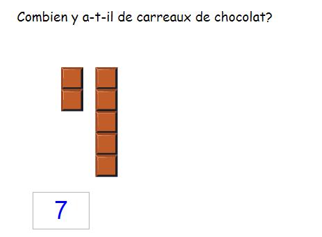 Les nombres de 0 à 10 - Compter les chocolats jusqu'à 10