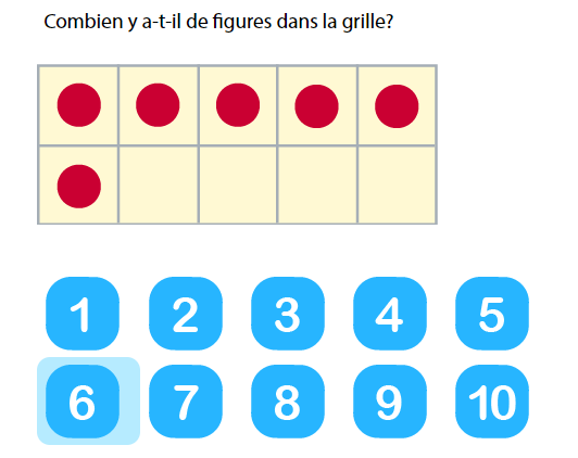 Les nombres de 0 à 10 - Compter jusqu'à 10 dans une grille de 10 entrées