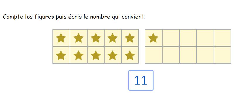 Les nombres de 1 à 20 Maternelle GS - Compter jusqu'à 20 dans les grilles de 10 entrées