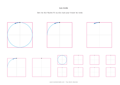 Graphisme les ronds GS - Fiche à imprimer