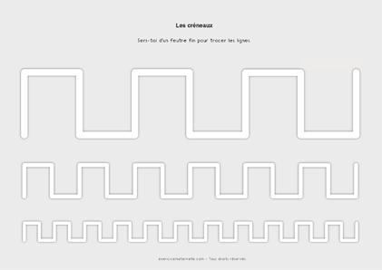Séquence créneaux GS Maternelle - tracer les créneaux