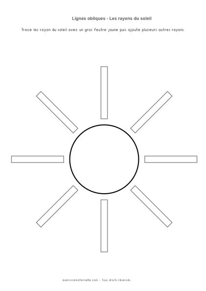 Lignes obliques MS - le soleil