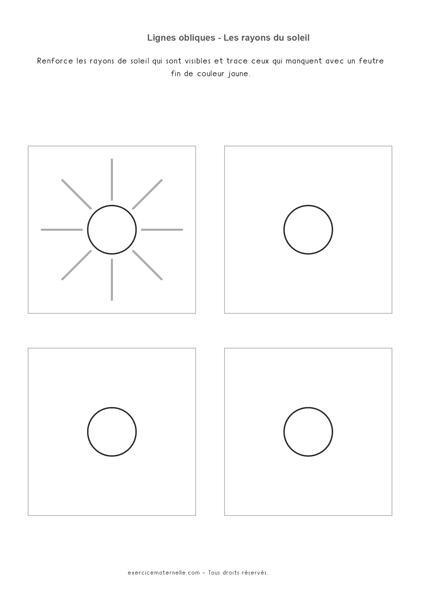 Lignes obliques GS - les rayons du soleil
