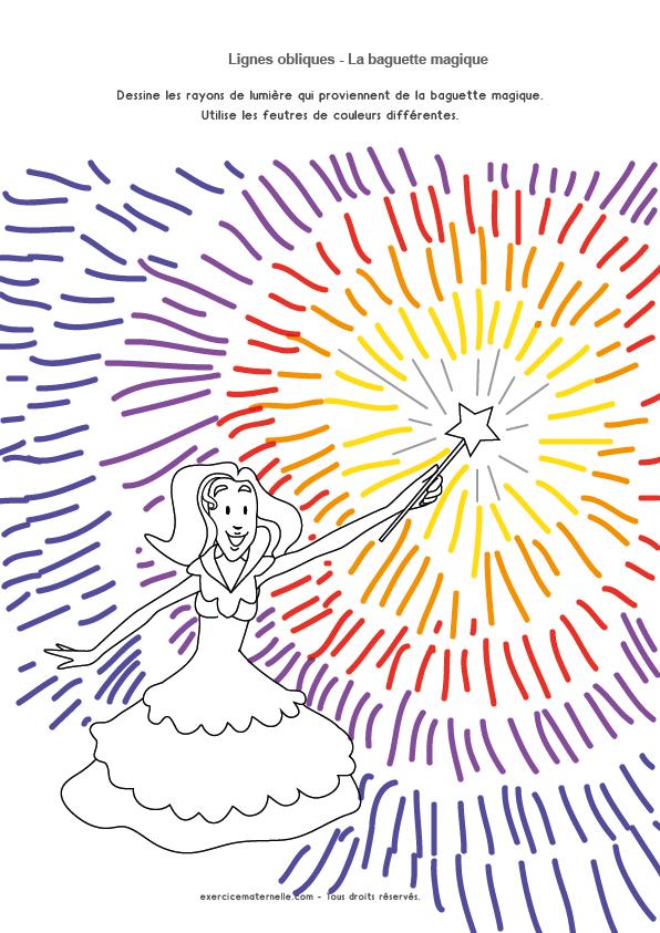 Traits obliques Maternelle Grande section - le rayonnement magique