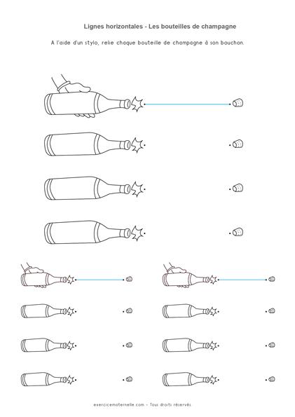 Graphisme lignes horizontales GS - Bouteolles de champagne