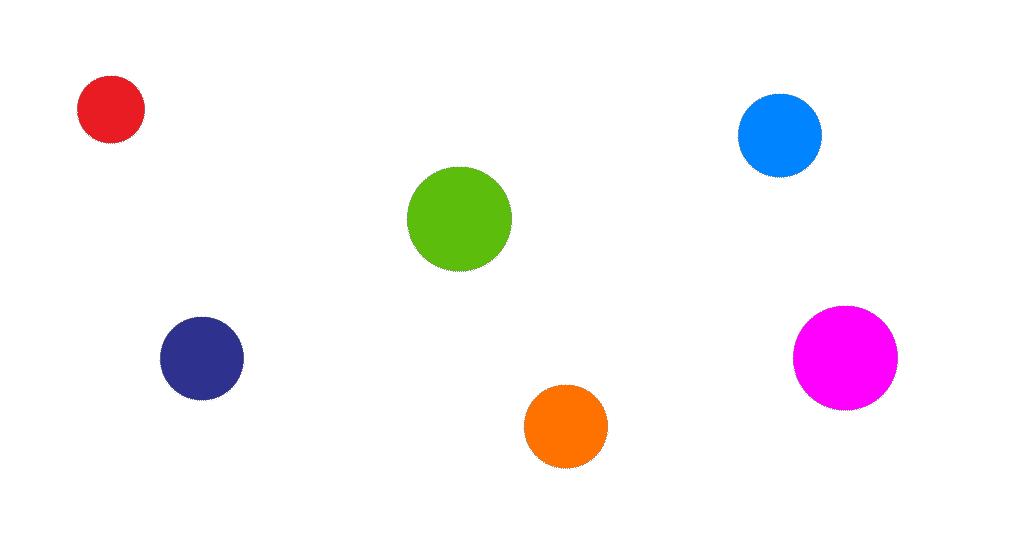 Le rond - Coller les gommettes