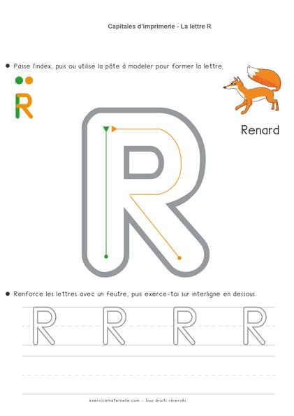 Écriture Maternelle à imprimer - la lettre r