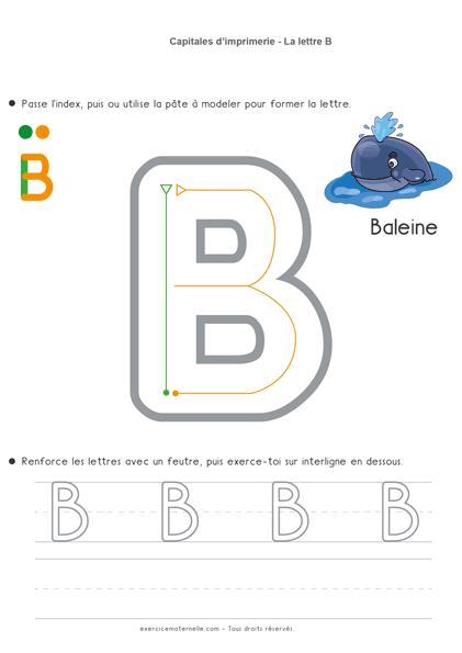 Écriture Maternelle à imprimer - la lettre b