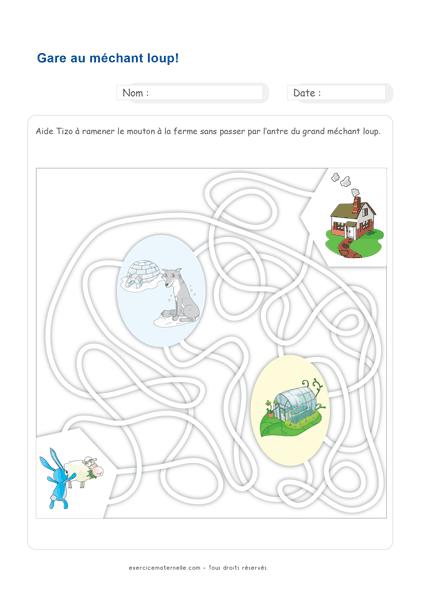 Activités Mathématiques MS - déplacement dans un labyrinthe