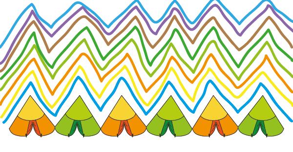 Lignes brisées MS GS - idée atelier graphisme maternelle 02