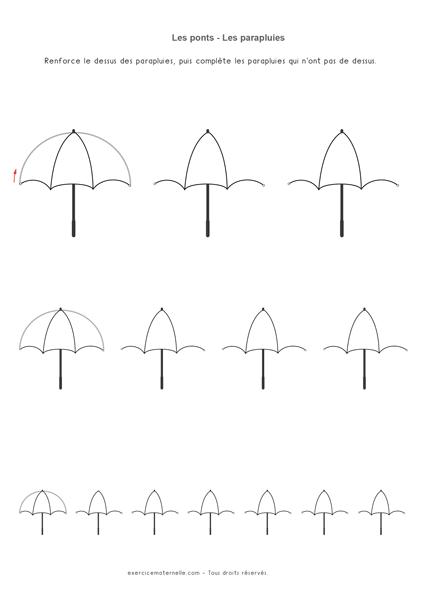 Ponts à l'endroit - Parapluies