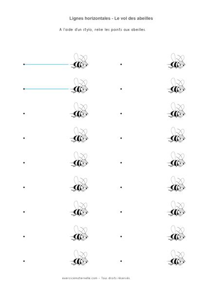 Traits horizontaux GS - Le vol des abeilles