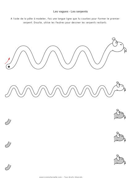 Fiche Graphisme Vagues MS GS - les serpents