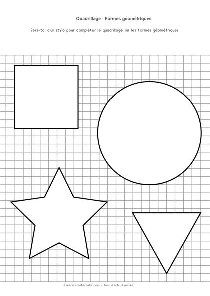 Graphisme quadrillage GS - formes géométriques