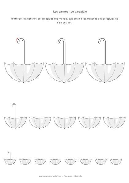 Graphisme Cannes Maternelle - cannes parapluies