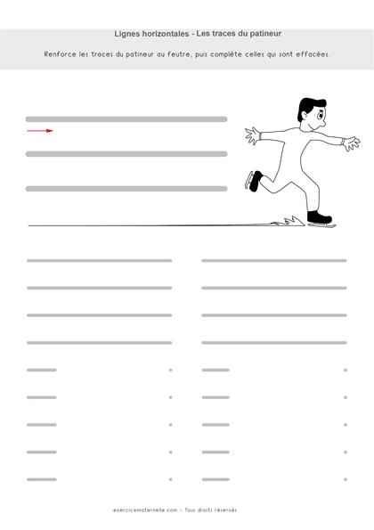 Graphisme lignes horizontales GS - les traces du patineur