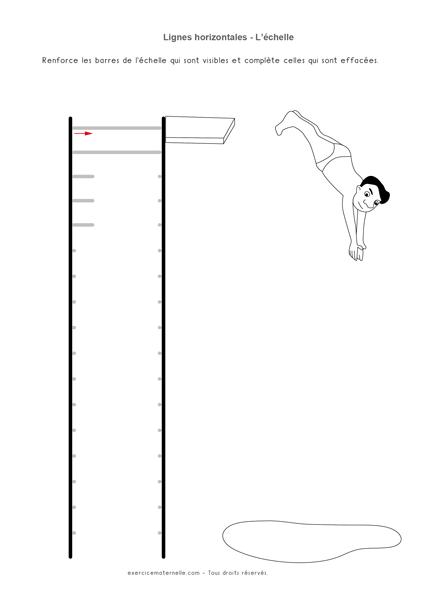 Traits horizontaux Moyenne Section