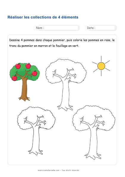pdf Fiche numération MS à imprimer